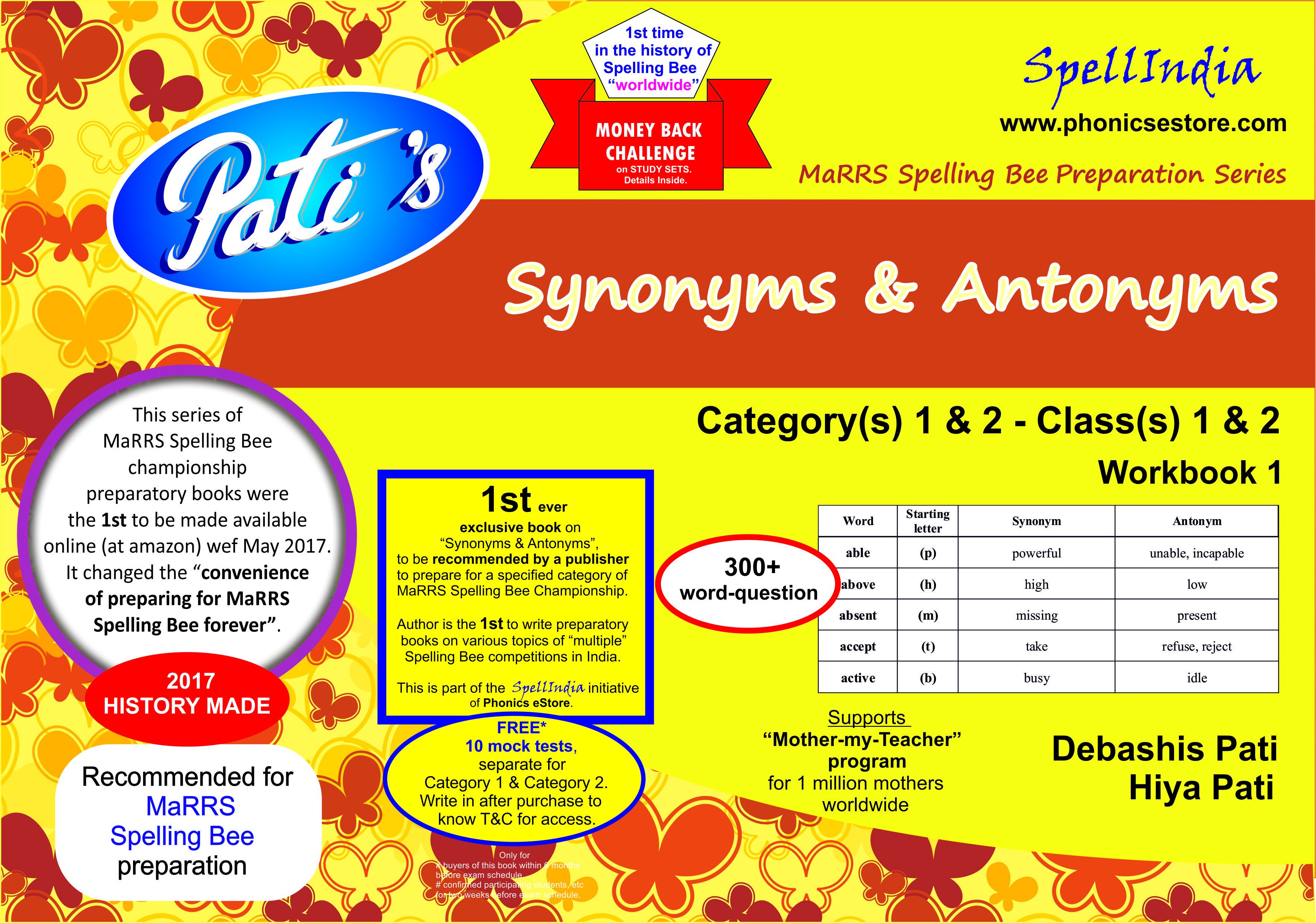 synonyms antonyms marrs spell bee book