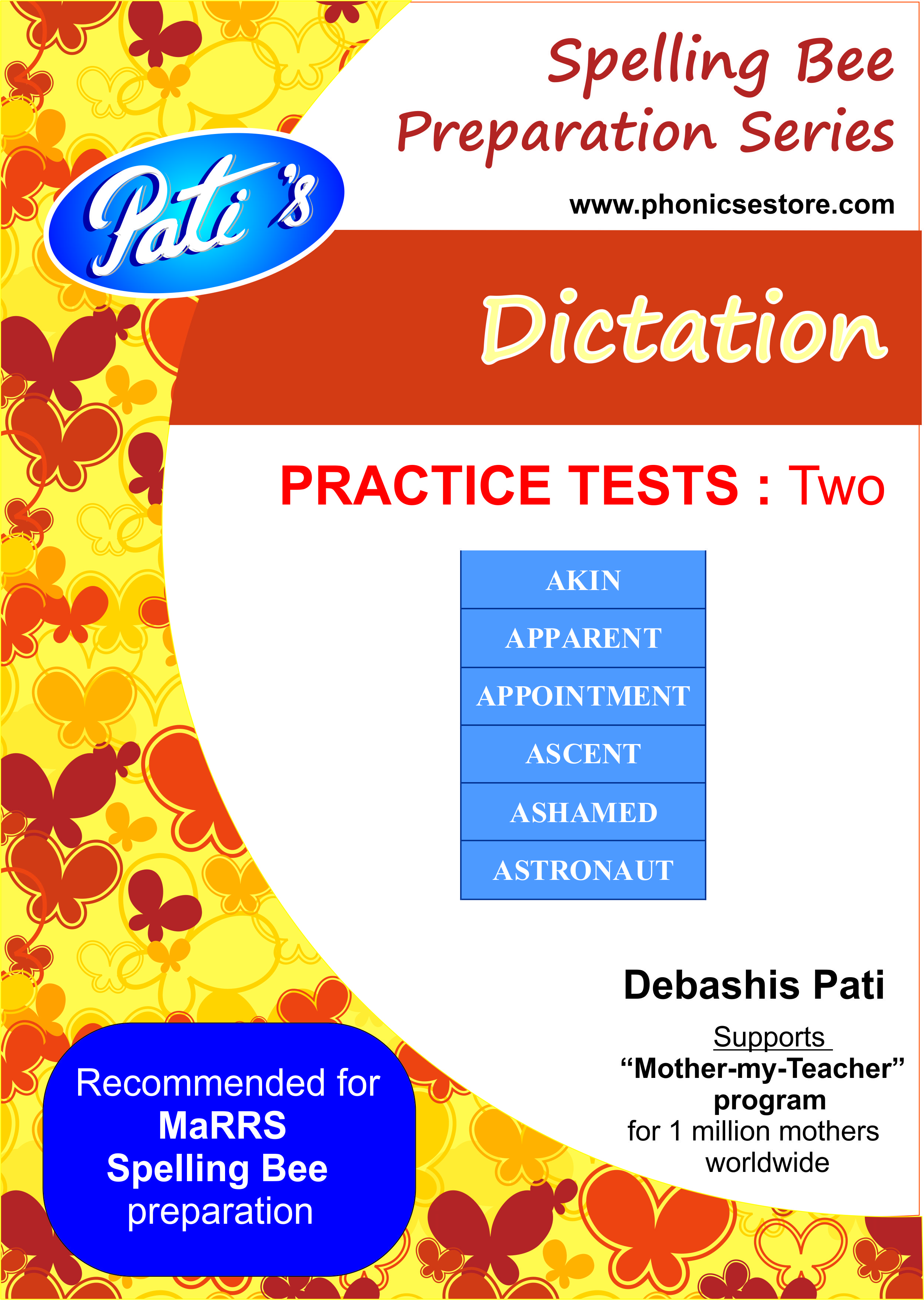 dictation marrs spellbee study sample test paper