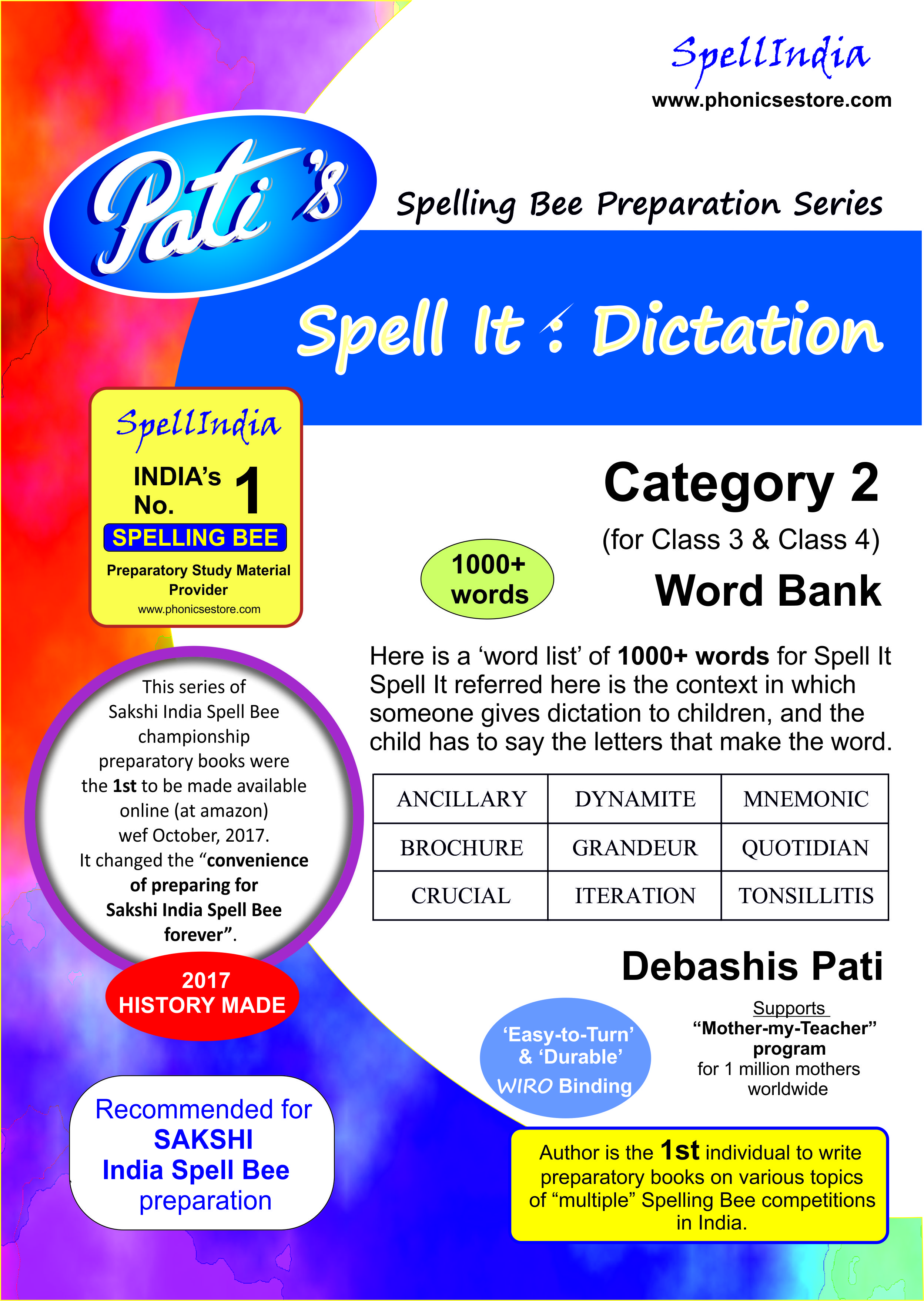 sakshi india spell bee category 2 book
