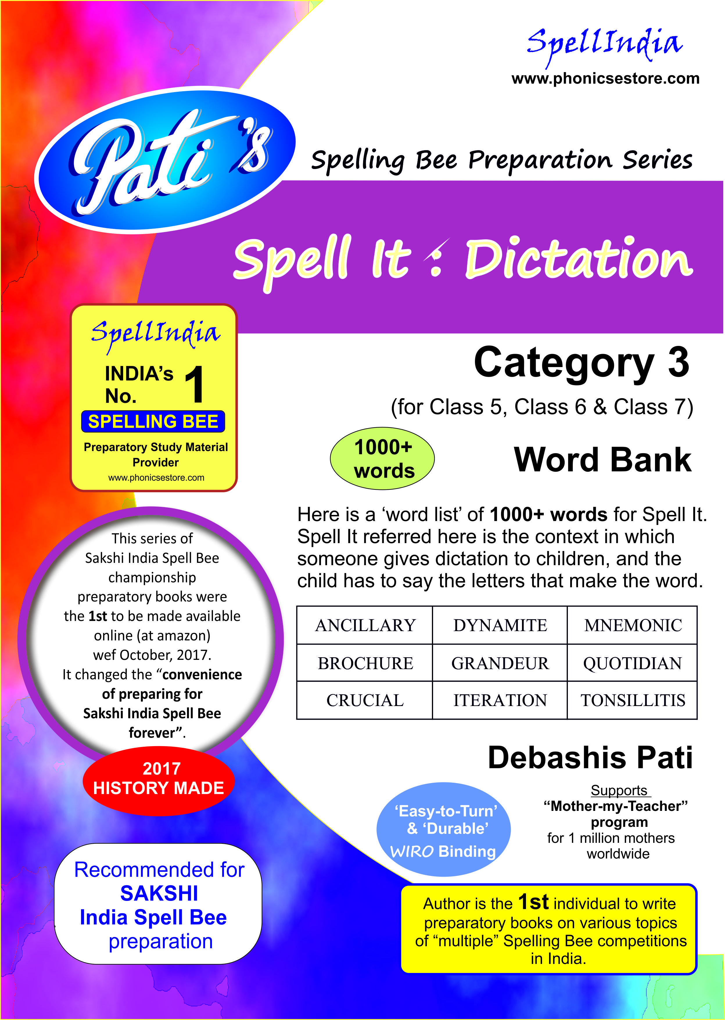 sakshi india spell bee category 3 book