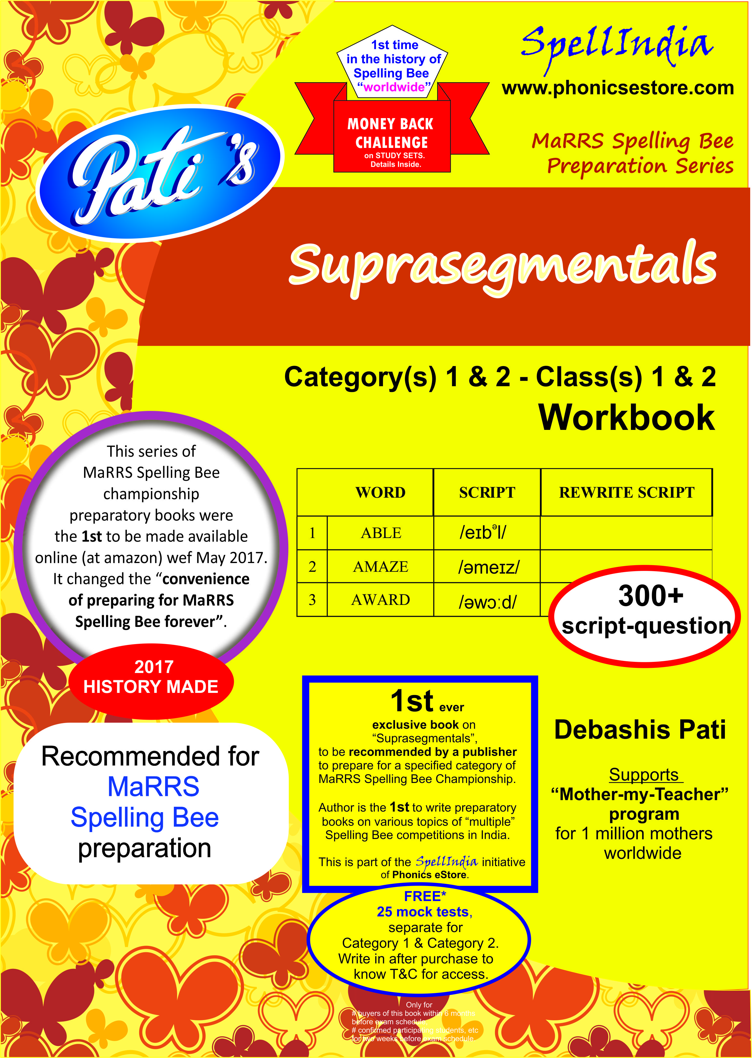Suprasegmentals learning book marrs spelling bee