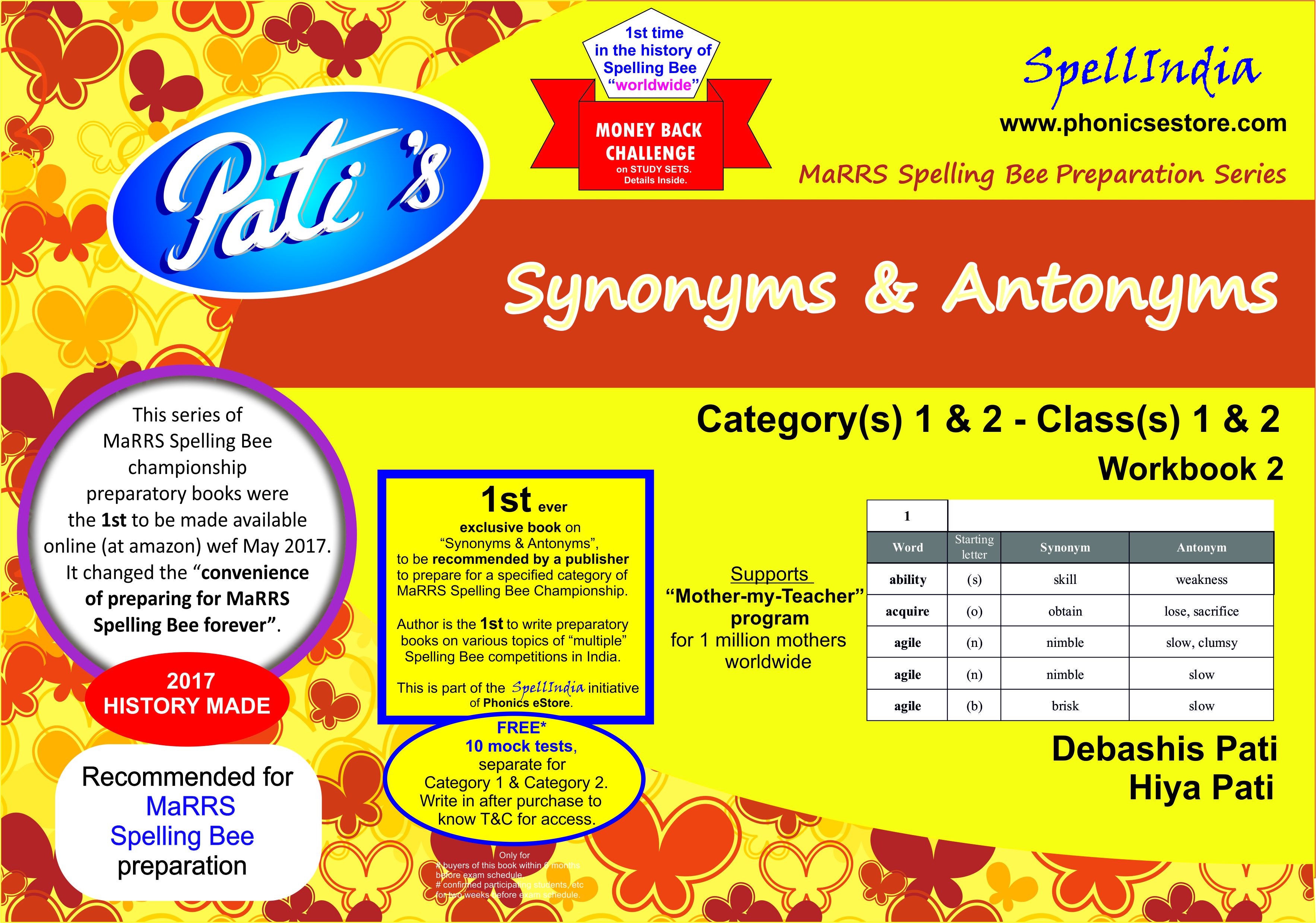 synonyms antonyms marrs spellbee book