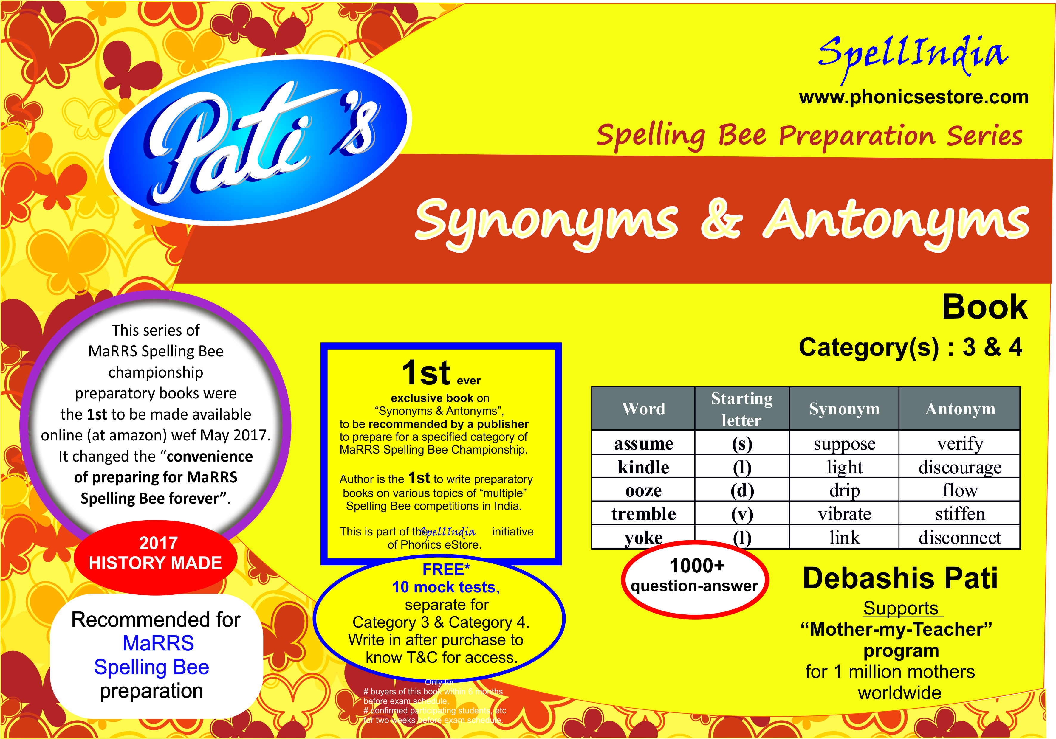 synonyms antonyms marrs spelling bee book