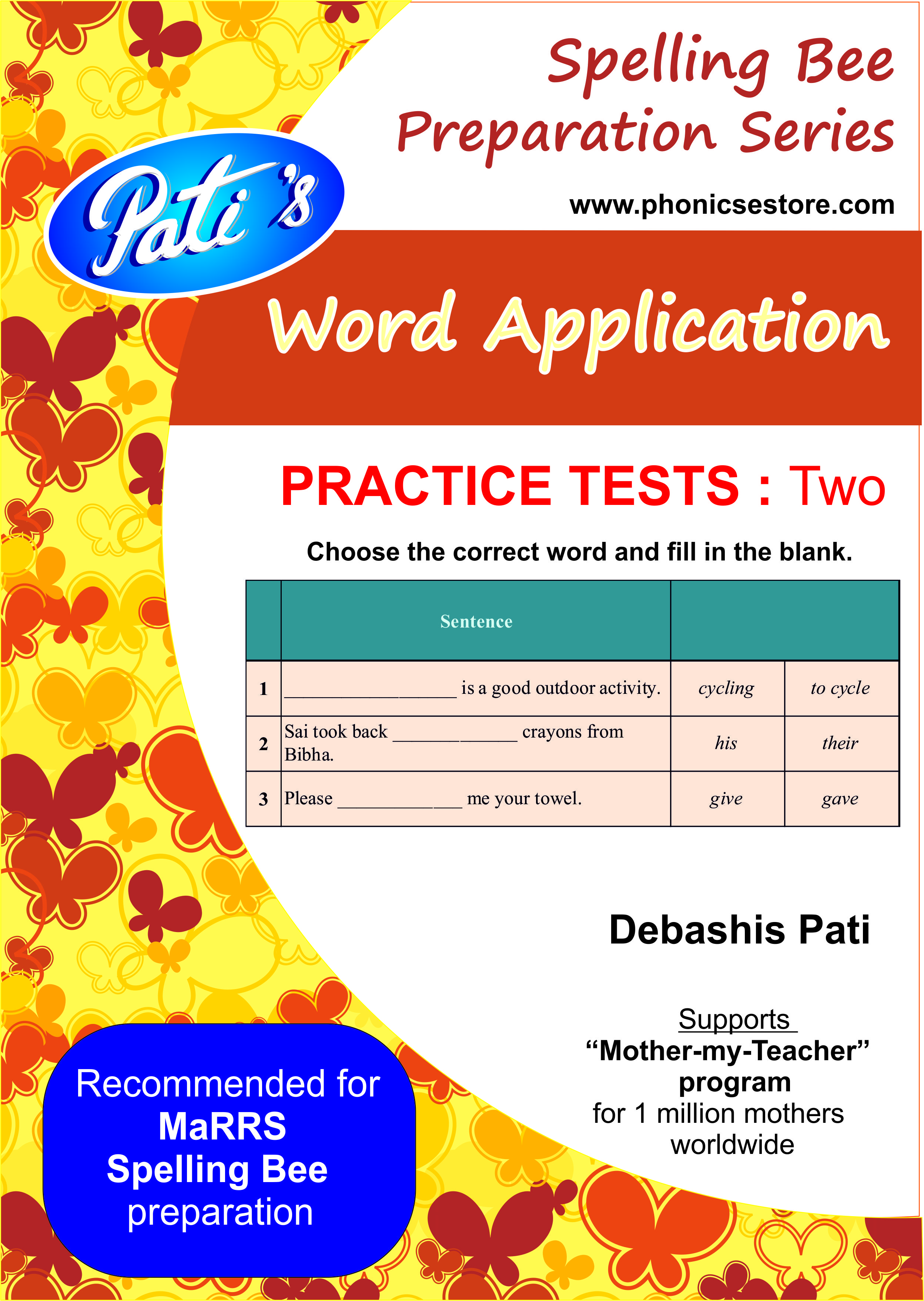 word application marrs spelling bee sample test paper